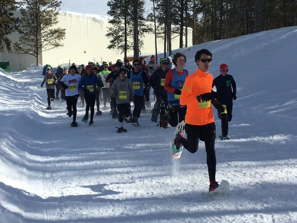 snowshoe racers on course in Leadville, CO