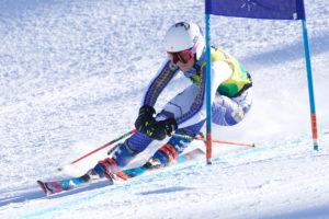 CMC Ski Team member Cheyenne Brown on course.