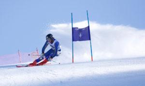 CMC Eagle Ski Team member Garett Black on course.