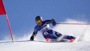 CMC Eagle Ski Team member Henry Hakoshima on course
