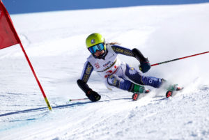 CMc Eagles Ski Team member Mary Kate Hackworthy on course