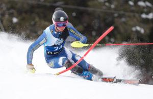 CMC Eagles Ski Team member Sergi Piguillem on a slalom course.