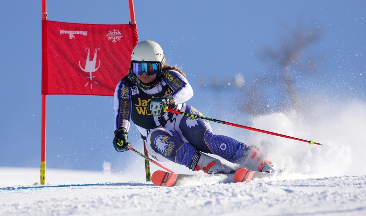 CMC Eagles Ski Team member Shiau-Tau Ciecierska on course