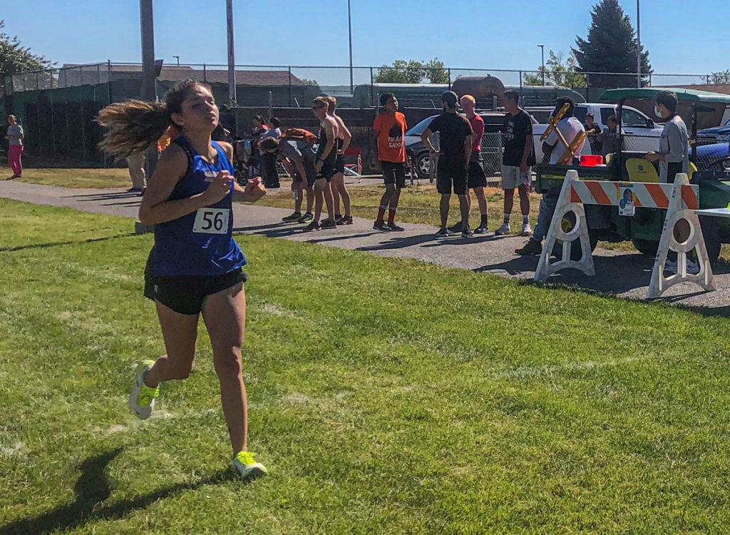 Cami Trujillo at the finish.