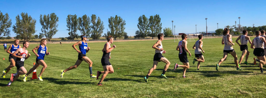 Men on course in Riverton.