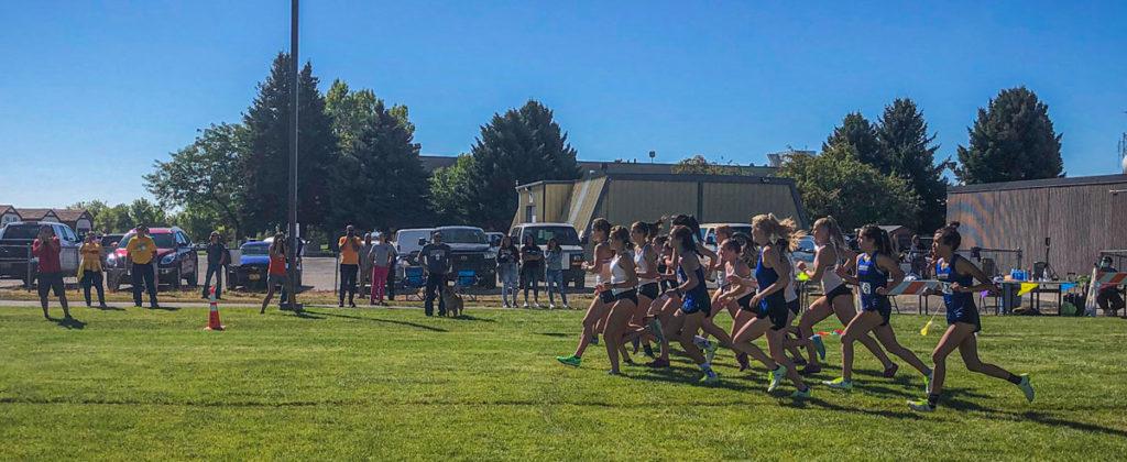 Start of the women's race.